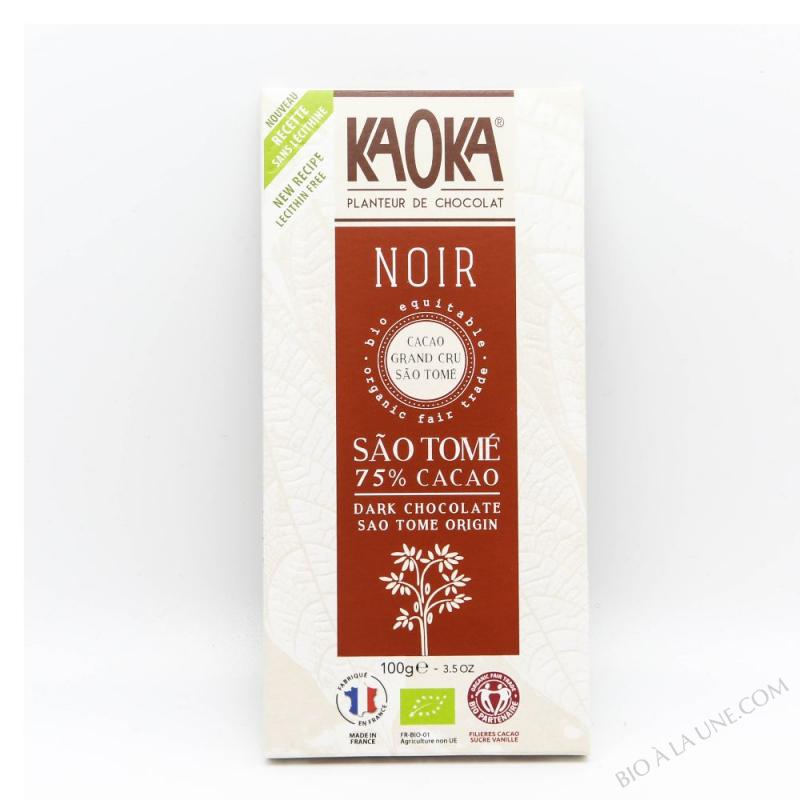 CHOCO NOIR 75% SAO TOME 100G KAOKA