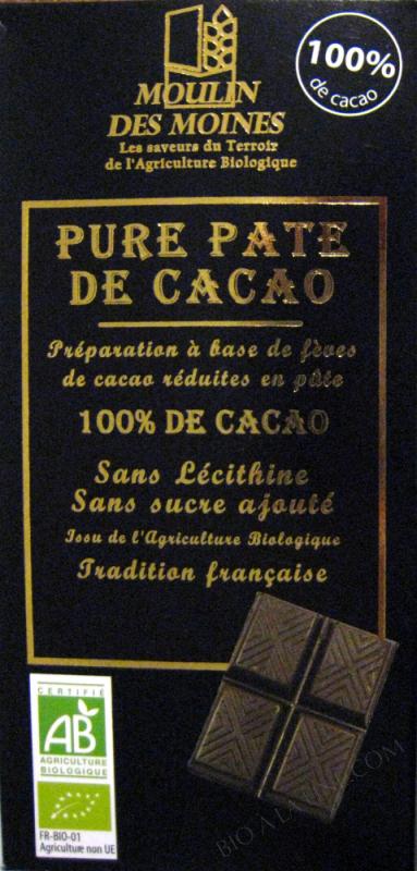 Pure Pâte de Cacao BIO 100g