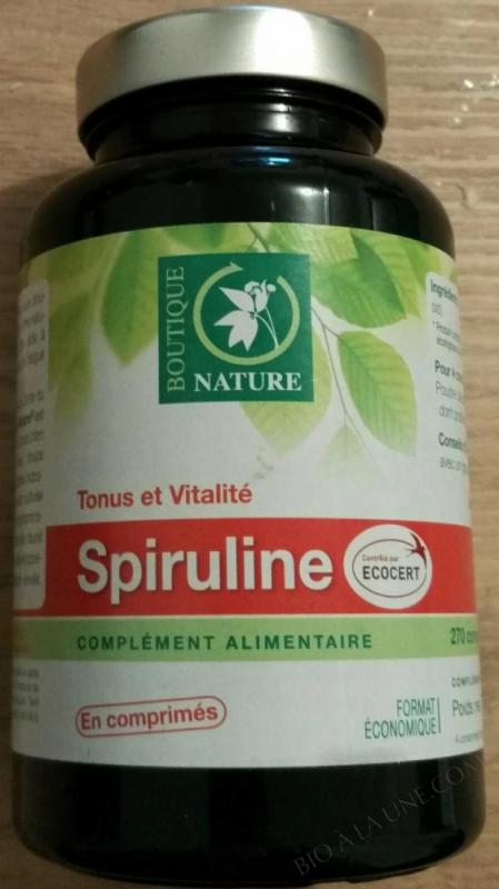 Spiruline contrôlée Ecocert - 270 comprimés