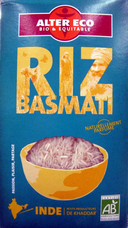 Riz Basmati Bio et Ethiquable Alter Eco- 500 g