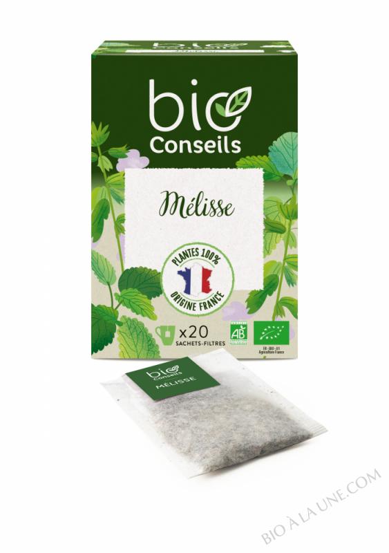 Infusion Mélisse (Digestion, Relaxation) - Bio Conseils - 24 g - 20 sachets de 1;2 g
