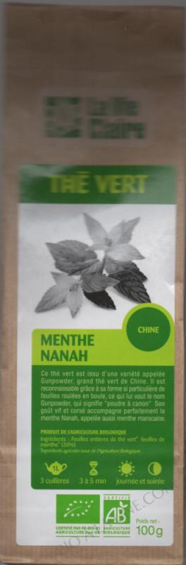 Thé vert feuille entière et Menthe - 100 g