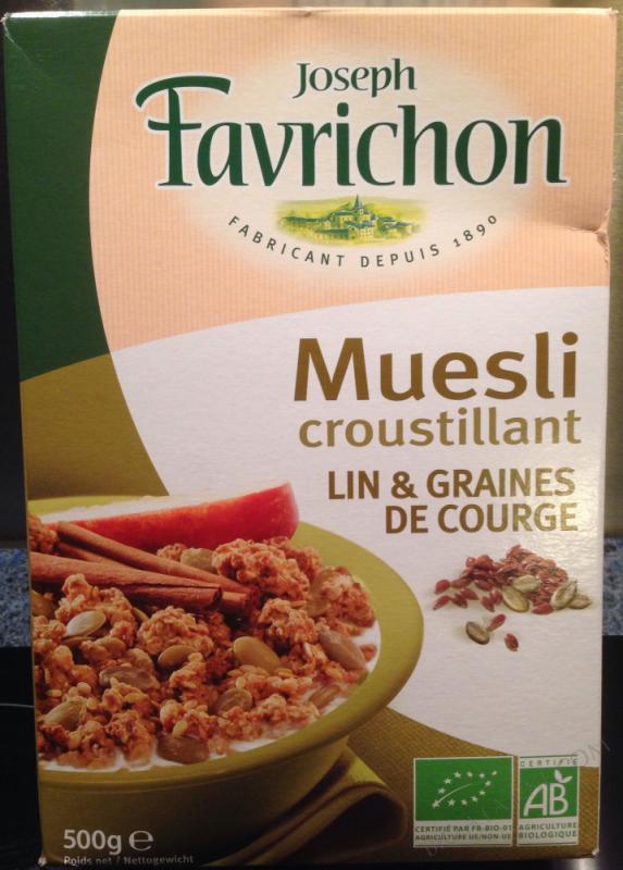 muesli croistillant lin et graine de courge- 500 g