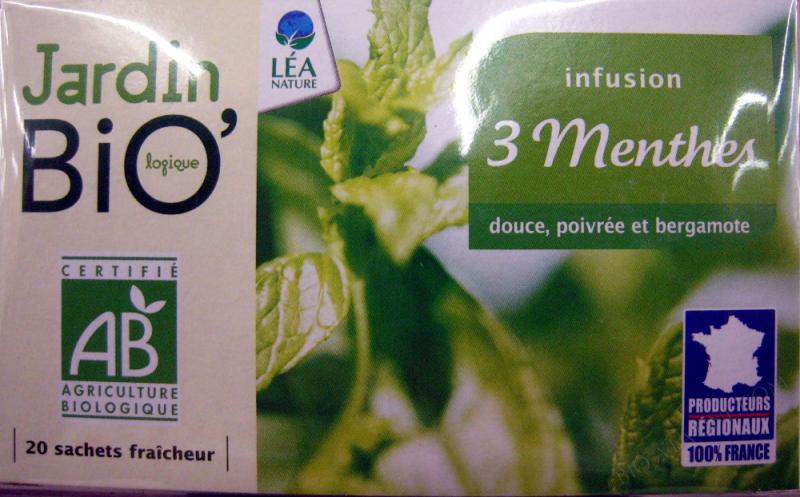 Infusion 3 Menthes Jardin Bio- 30 g (20 sachets de 1,5 g)