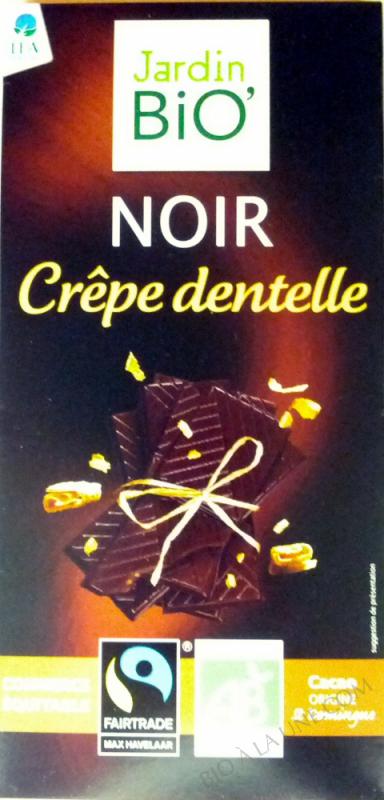Chocolat Noir Crêpe dentelle-  100 g