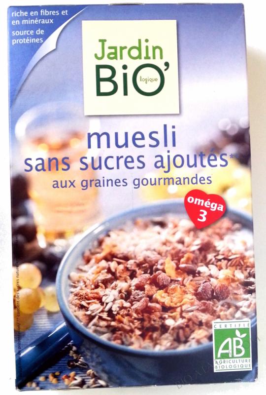 Muesli sans sucres ajoutés- 375 g