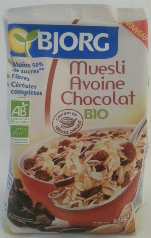 Muesli avoine chocolat 375g