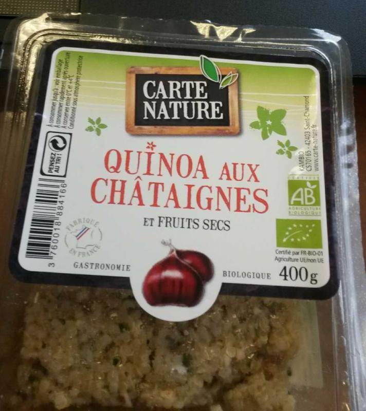 Quinoa aux châtaignes et fruits secs- 400 g