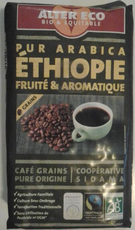 CAFE D'ETHIOPIE BIO EN GRAIN - 250 G