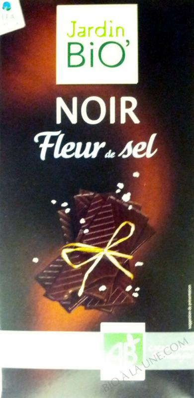 Chocolat noir fleur de sel 100gr