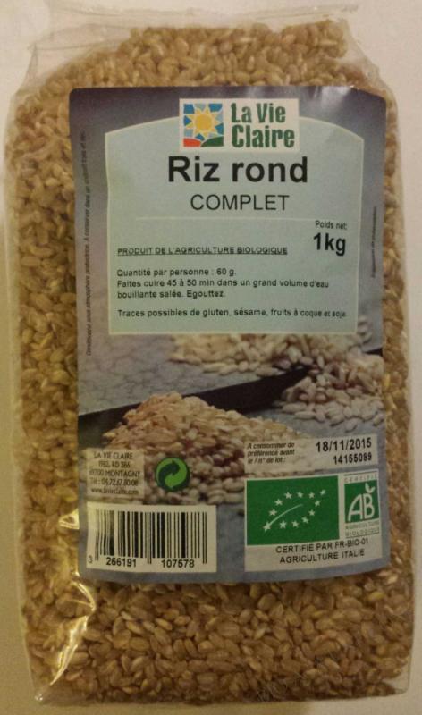 Riz rond complet- 1 kg