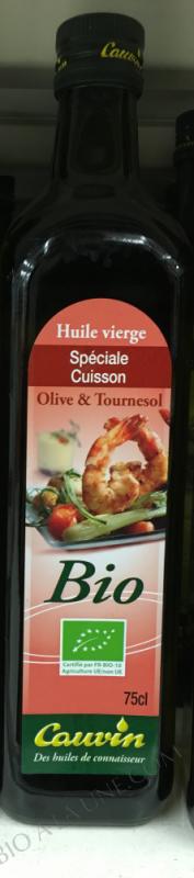 Huile vierge spéciale cuisson Olive & Tournesol- 75 cl