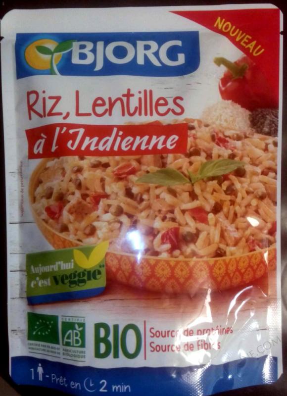 Riz, lentilles à l'indienne- 220 g