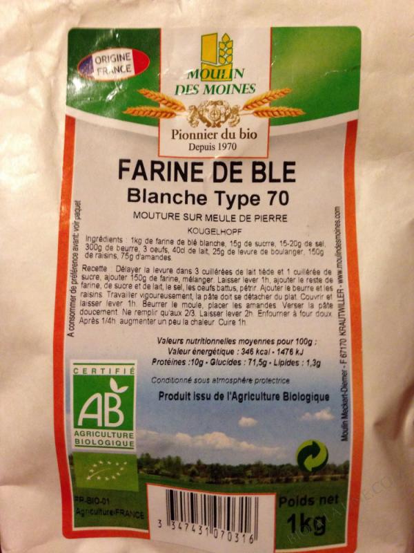Farine de ble blanche T70 - 1kg