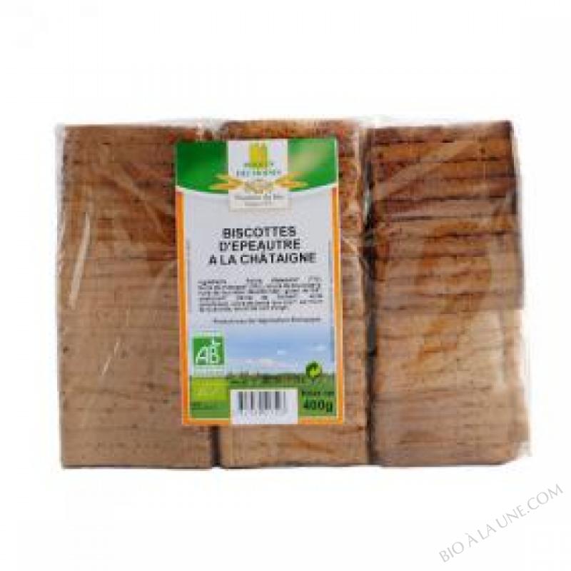 Biscottes d'epeautre à la châtaigne bio - 270g