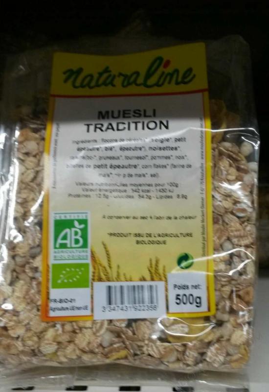 Muesli Tradition (fruits et graines) bio  - 500 g