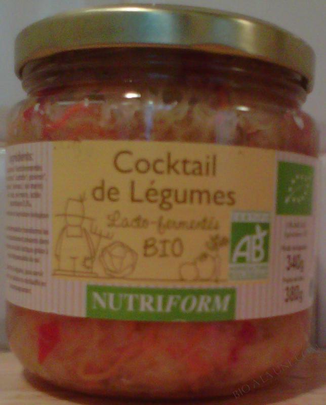 Cocktail de légumes lactofermentés bio - 380 g