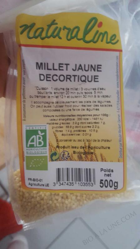 Millet jaune bio          - 500 g