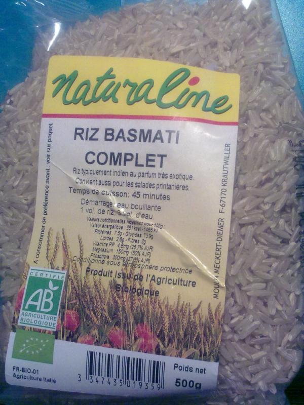 Riz Basmati long complet bio  - 500 g