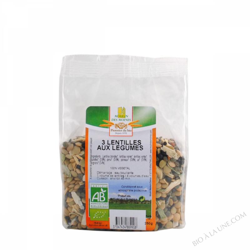 3 Lentilles aux legumes - 250g