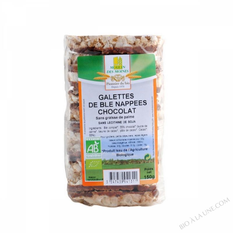 Galettes de ble nappees chocolat bio - 150g