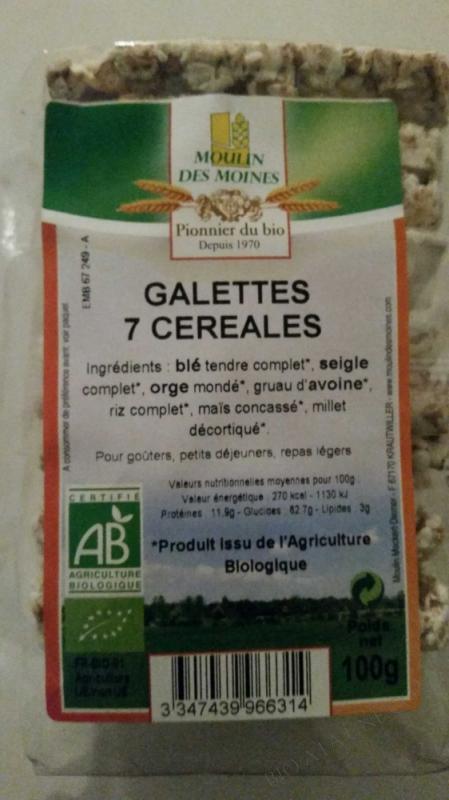 Galettes 7 cereales bio - 100g