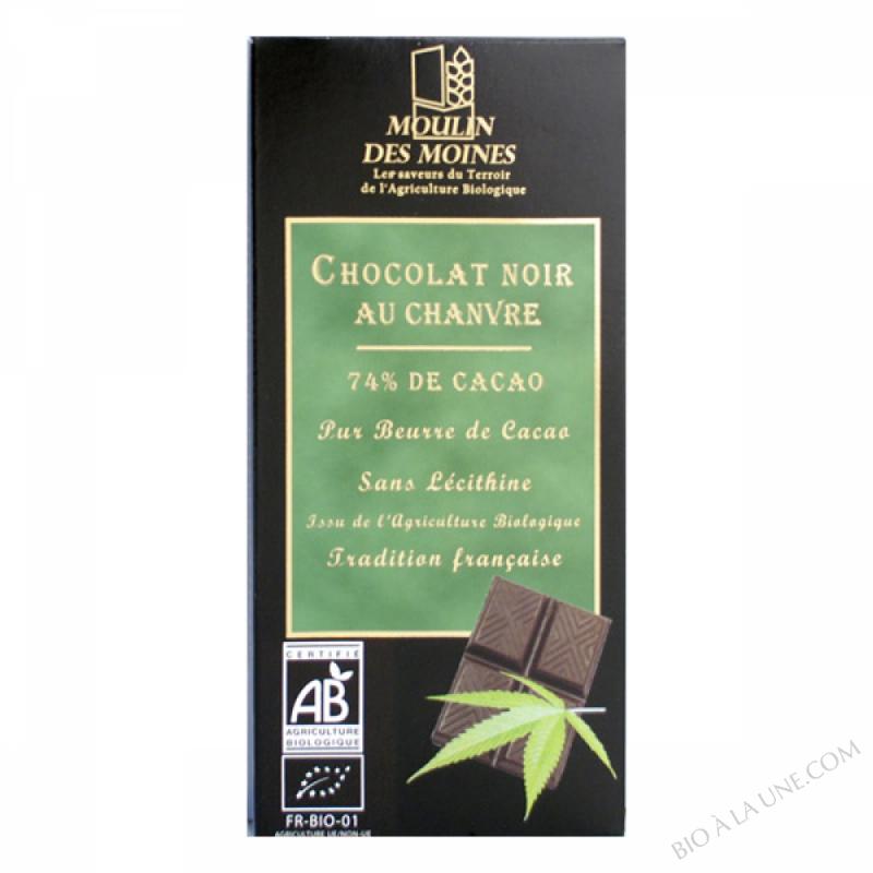 Chocolat Noir Chanvre BIO 100g