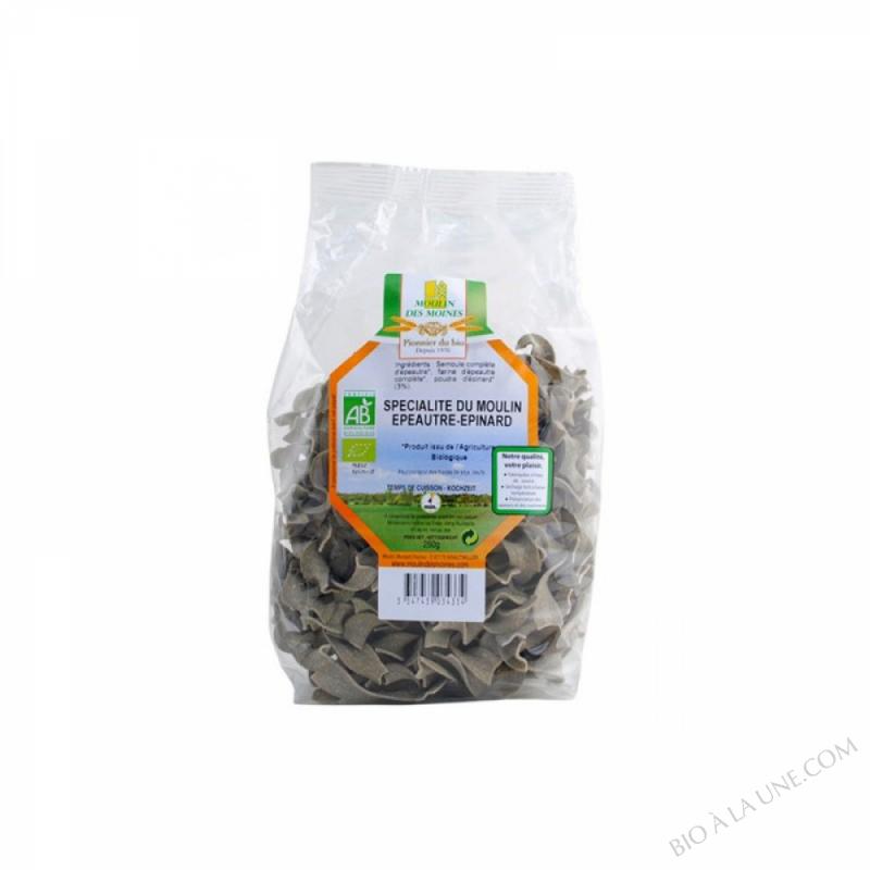 Spécialité de blé aux épinards - Pâtes demi-complètes - 250 g