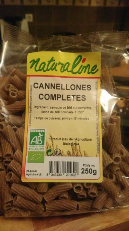 Cannellones – Pâtes Complètes - 500 g