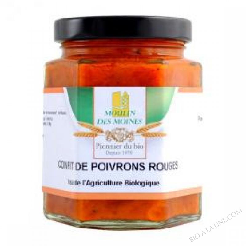 Confit de poivron rouge à tartiner - 200 g