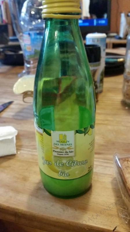 Jus de citron bio - 25cl