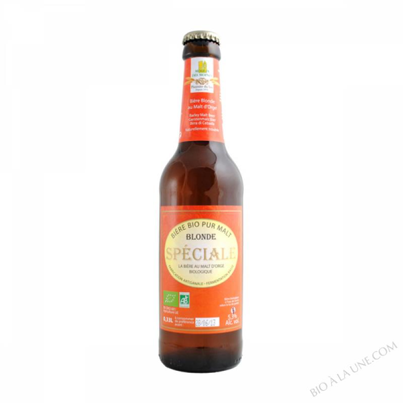 Biere blonde speciale au malt d'orge bio - 33cl