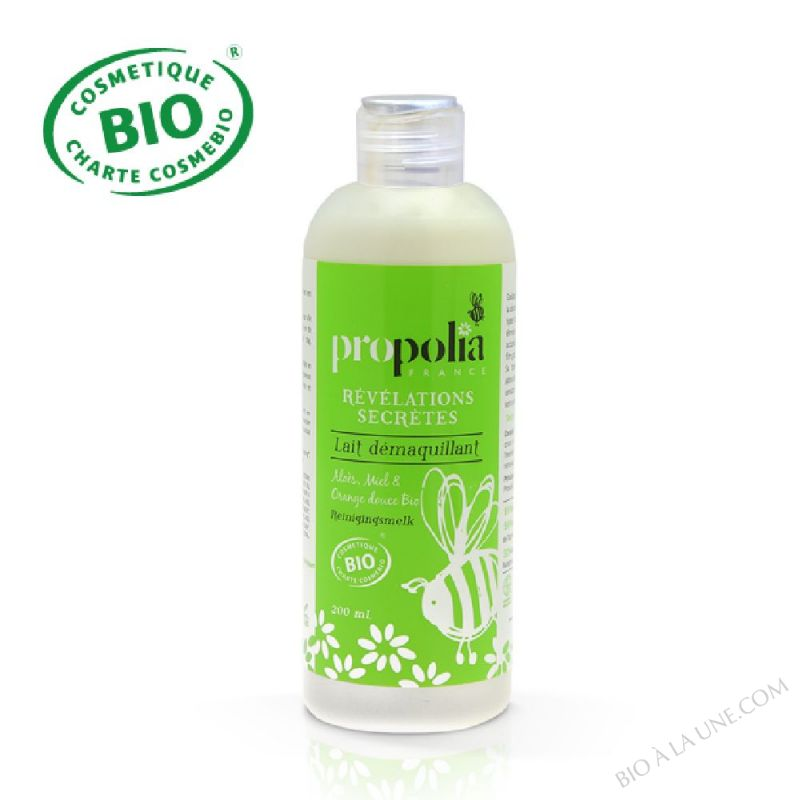 Lait Démaquillant BIO -Aloes, Miel & Orange douce