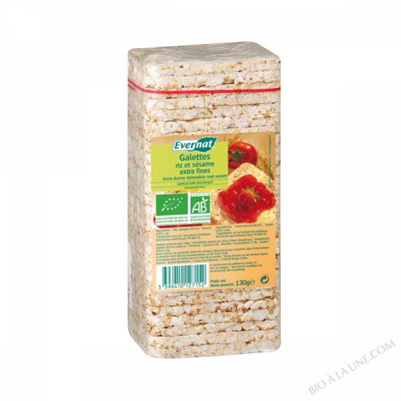 Galettes de riz sesame Extra fines 130g