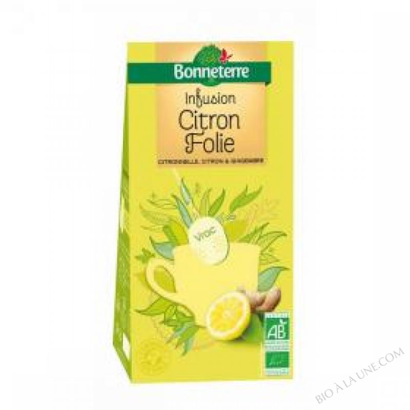 Infusion Citron Folie Vrac 100gr