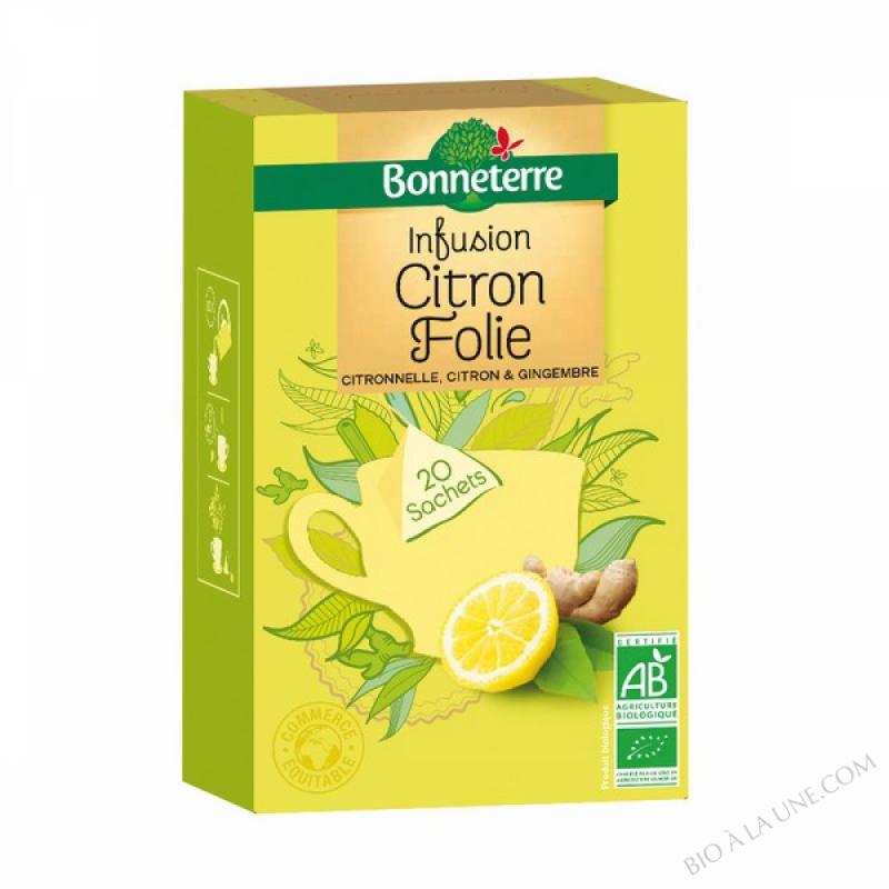 Infusion Citron Folie Sachets Pyramides 50gr