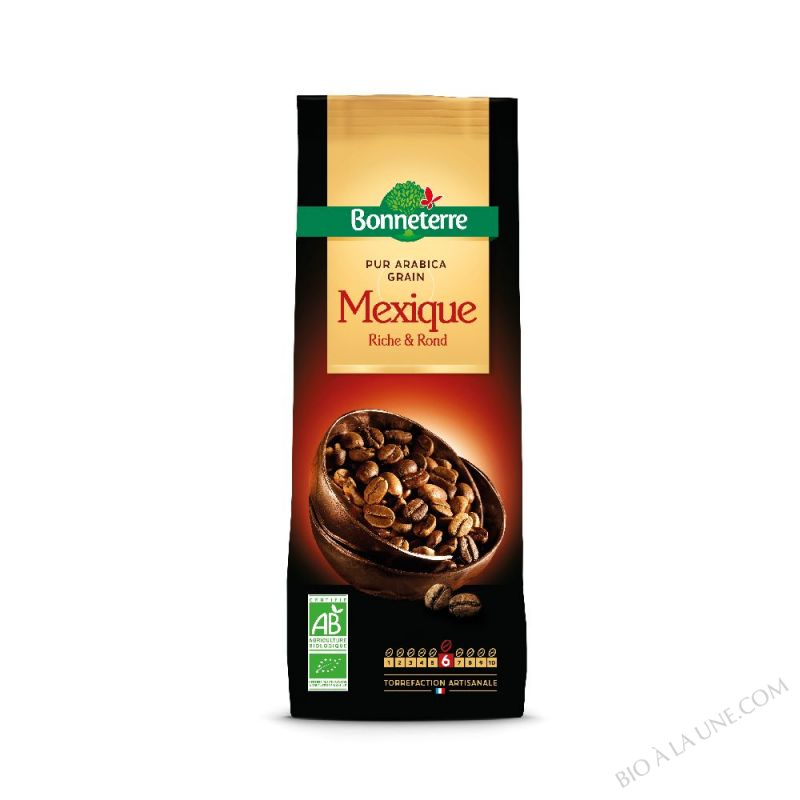 CAFE GRAINS MEXIQUE PUR ARABICA 250GR