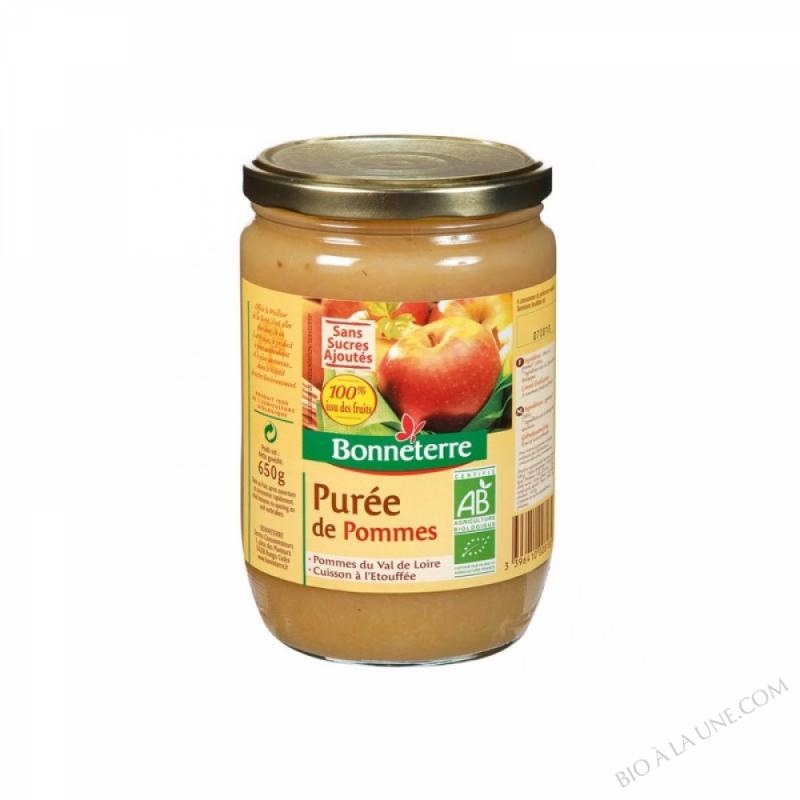 PUREE DE POMMES SANS SUCRE - 650 G