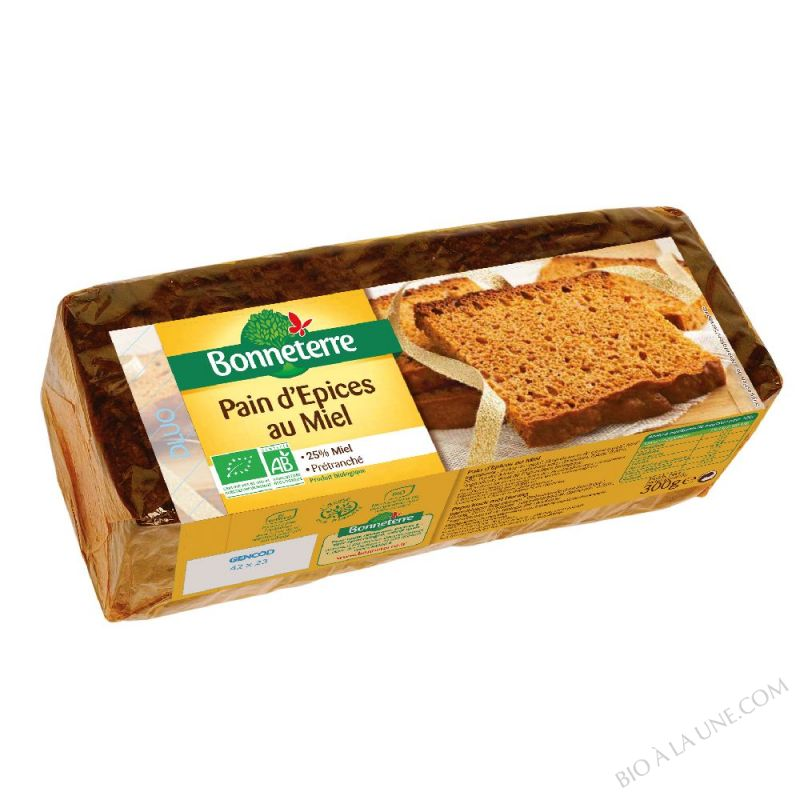 PAIN D'EPICES 25% MIEL PRETRANCHE - 300 G