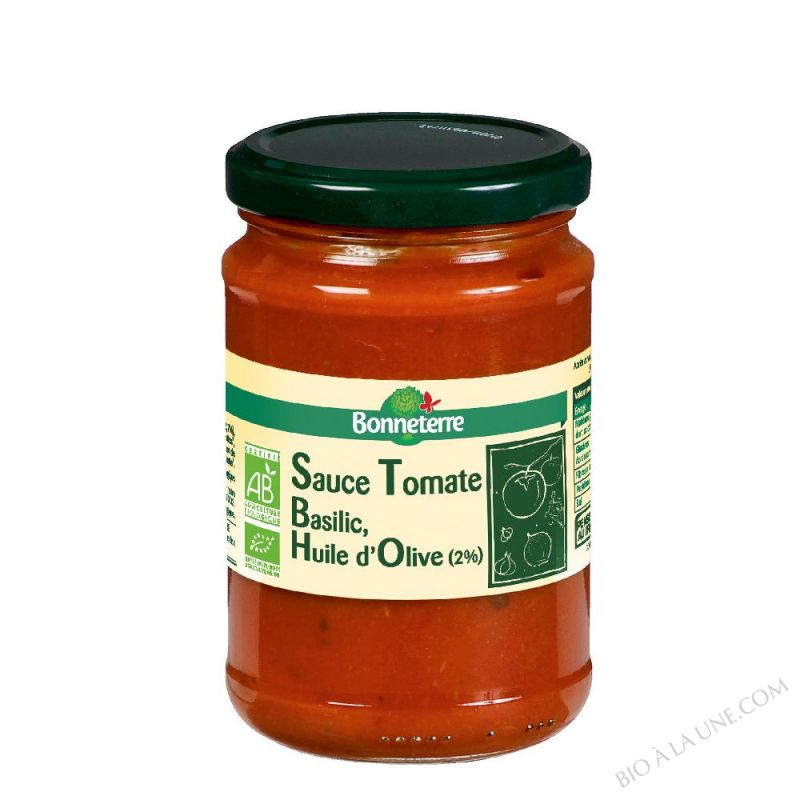 SAUCE TOMATE BASILIC HUILE D'OLIVE - 250 G