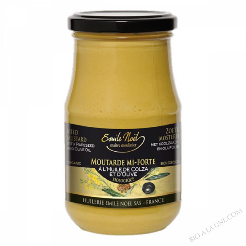 Moutarde mi-forte à l'huile de Colza et l'huile d'Olive bio - 350g