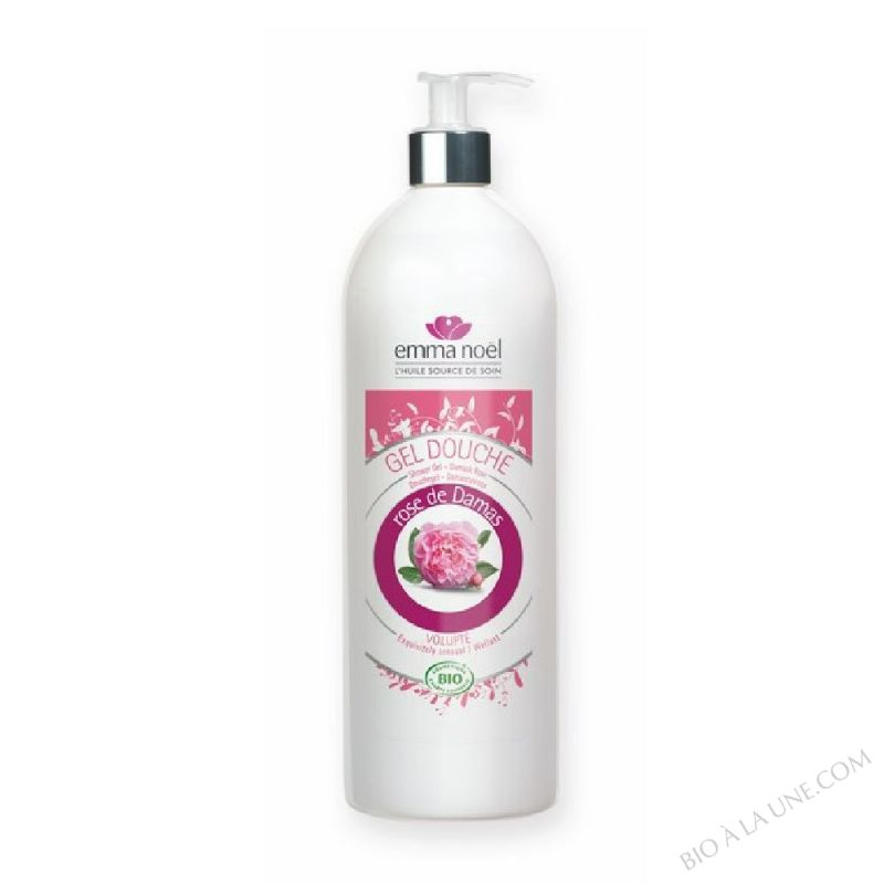 Gel douche Rose de Damas bio - 1L