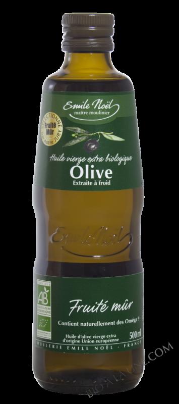 Huile d'olive vierge extra fruitée mûr biologique - 500ml