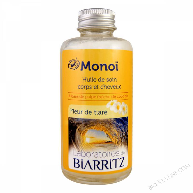 Huile soin corps/cheveux Monoi, fleurs de tiare 100ml