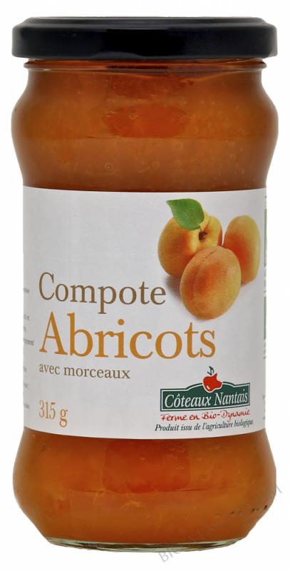 La compote d'abricots Bio 315g