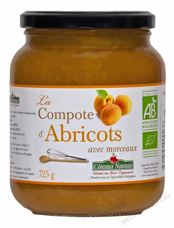 La compote d'abricots Bio 725g