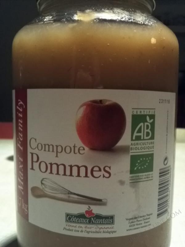 La compote de pommes Bio 1,7kg