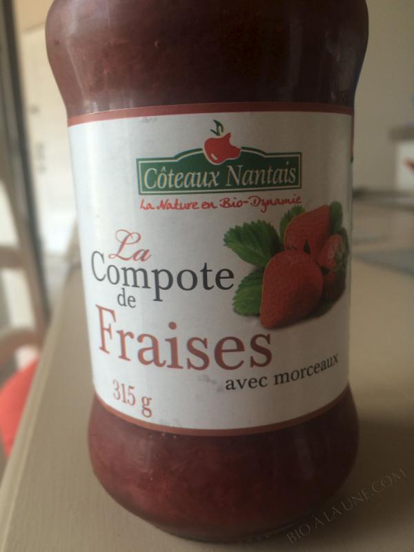 La compote de fraises Bio et Demeter 315g