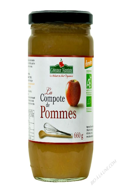 La compote de pommes Bio et Demeter 660g