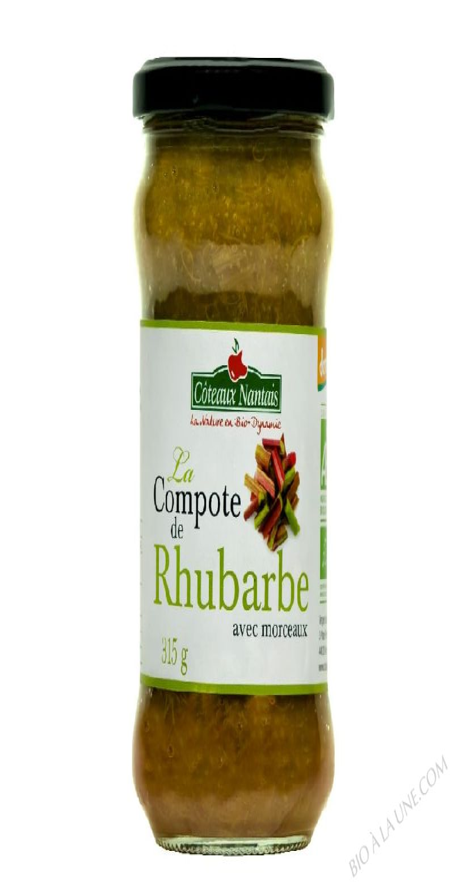 La compote de rhubarbe Bio et Demeter 315g